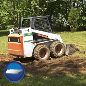 landscaping equipment (a skid-steer loader) - with Tennessee icon
