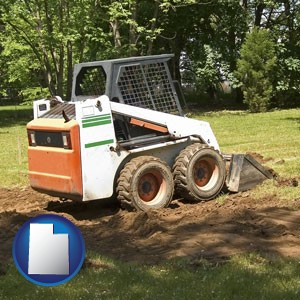 landscaping equipment (a skid-steer loader) - with Utah icon