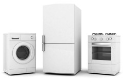 a refrigerator, a range, and a washer)