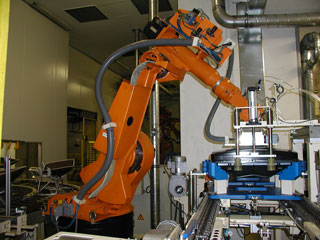 orange manufacturing robot