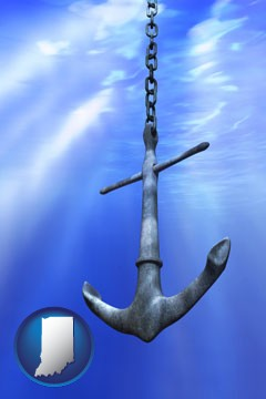 a marine anchor - with Indiana icon