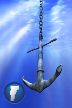 a marine anchor - with Vermont icon