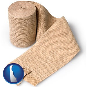 a medical bandage - with Delaware icon
