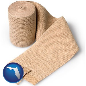 a medical bandage - with Florida icon