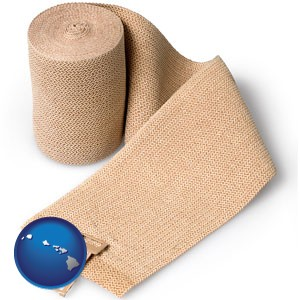 a medical bandage - with Hawaii icon