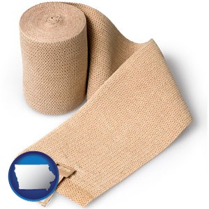 a medical bandage - with Iowa icon