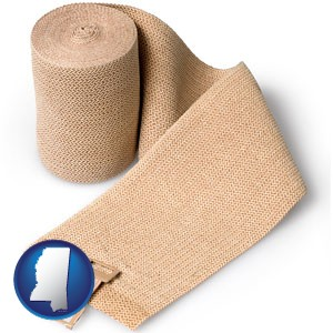 a medical bandage - with Mississippi icon