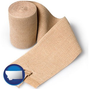 a medical bandage - with Montana icon