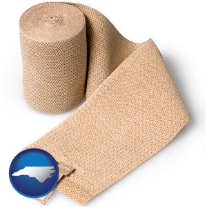 a medical bandage - with North Carolina icon