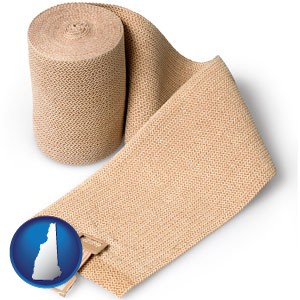 a medical bandage - with New Hampshire icon