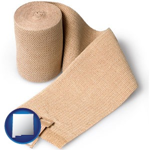 a medical bandage - with New Mexico icon