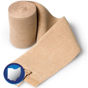 a medical bandage - with Ohio icon