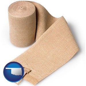 a medical bandage - with Oklahoma icon