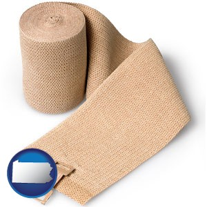 a medical bandage - with Pennsylvania icon
