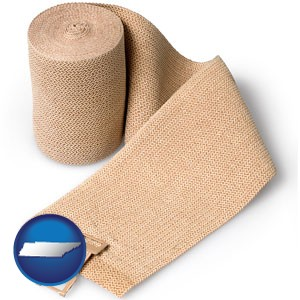 a medical bandage - with Tennessee icon
