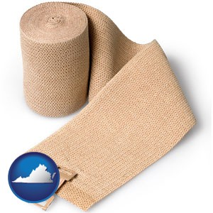 a medical bandage - with Virginia icon