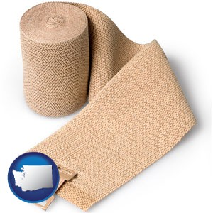 a medical bandage - with Washington icon