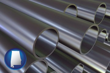 metal pipes - with Alabama icon