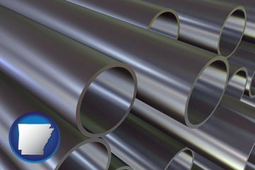 metal pipes - with Arkansas icon