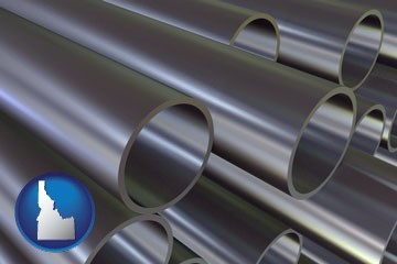 metal pipes - with Idaho icon