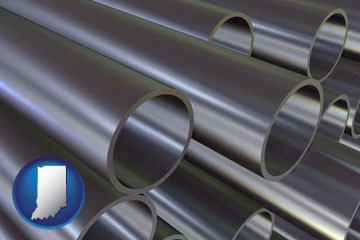 metal pipes - with Indiana icon