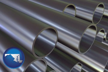 metal pipes - with Maryland icon