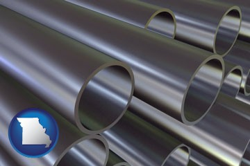 metal pipes - with Missouri icon