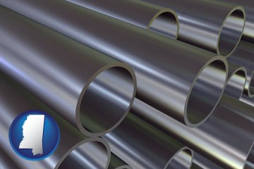 metal pipes - with Mississippi icon