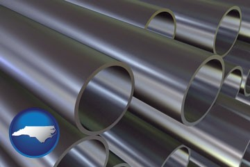 metal pipes - with North Carolina icon