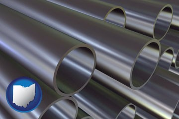 metal pipes - with Ohio icon