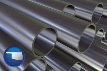 metal pipes - with Oklahoma icon