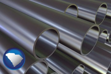 metal pipes - with South Carolina icon
