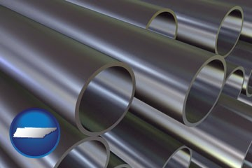 metal pipes - with Tennessee icon