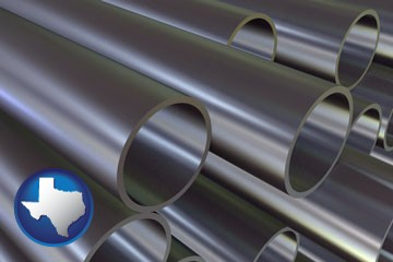 metal pipes - with Texas icon
