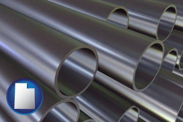 metal pipes - with Utah icon