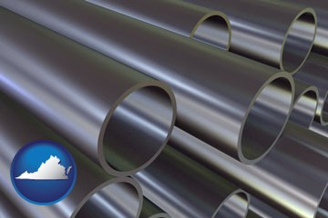 metal pipes - with Virginia icon