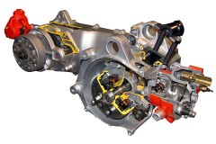 an internal combustion motorbike engine