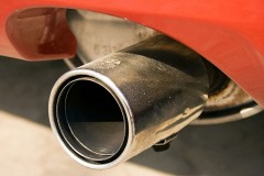 an automotive muffler and tailpipe