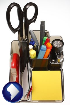 office supplies - with Washington, DC icon
