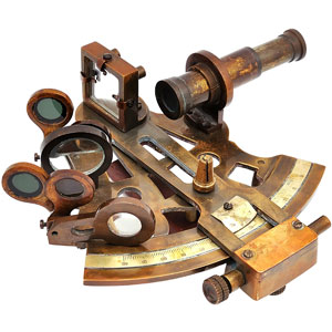 an old sextant