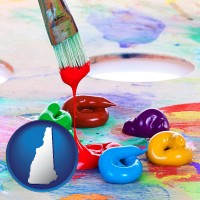 new-hampshire colorful oil paints and paintbrush