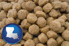 louisiana a pet food macro photo