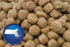 massachusetts a pet food macro photo