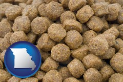 missouri a pet food macro photo