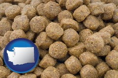 washington a pet food macro photo