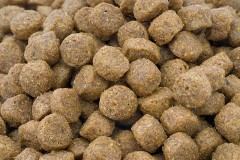 a pet food macro photo
