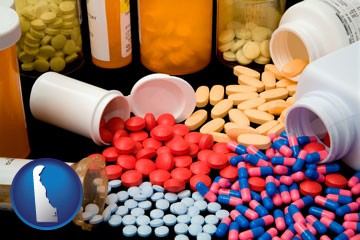 pharmaceutical products - with Delaware icon