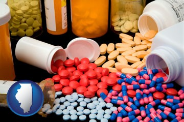 pharmaceutical products - with Illinois icon