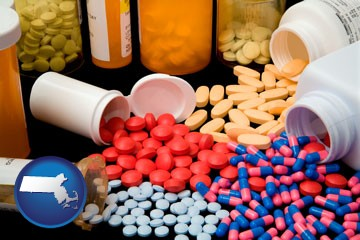 pharmaceutical products - with Massachusetts icon