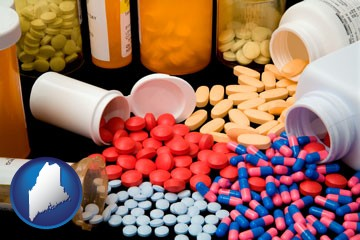 pharmaceutical products - with Maine icon